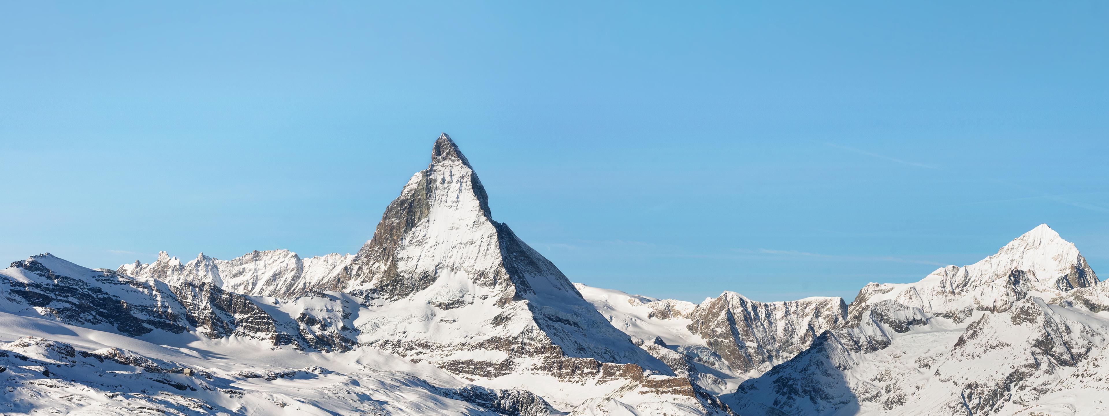 BRITA Vision schneebedeckte Bergspitze