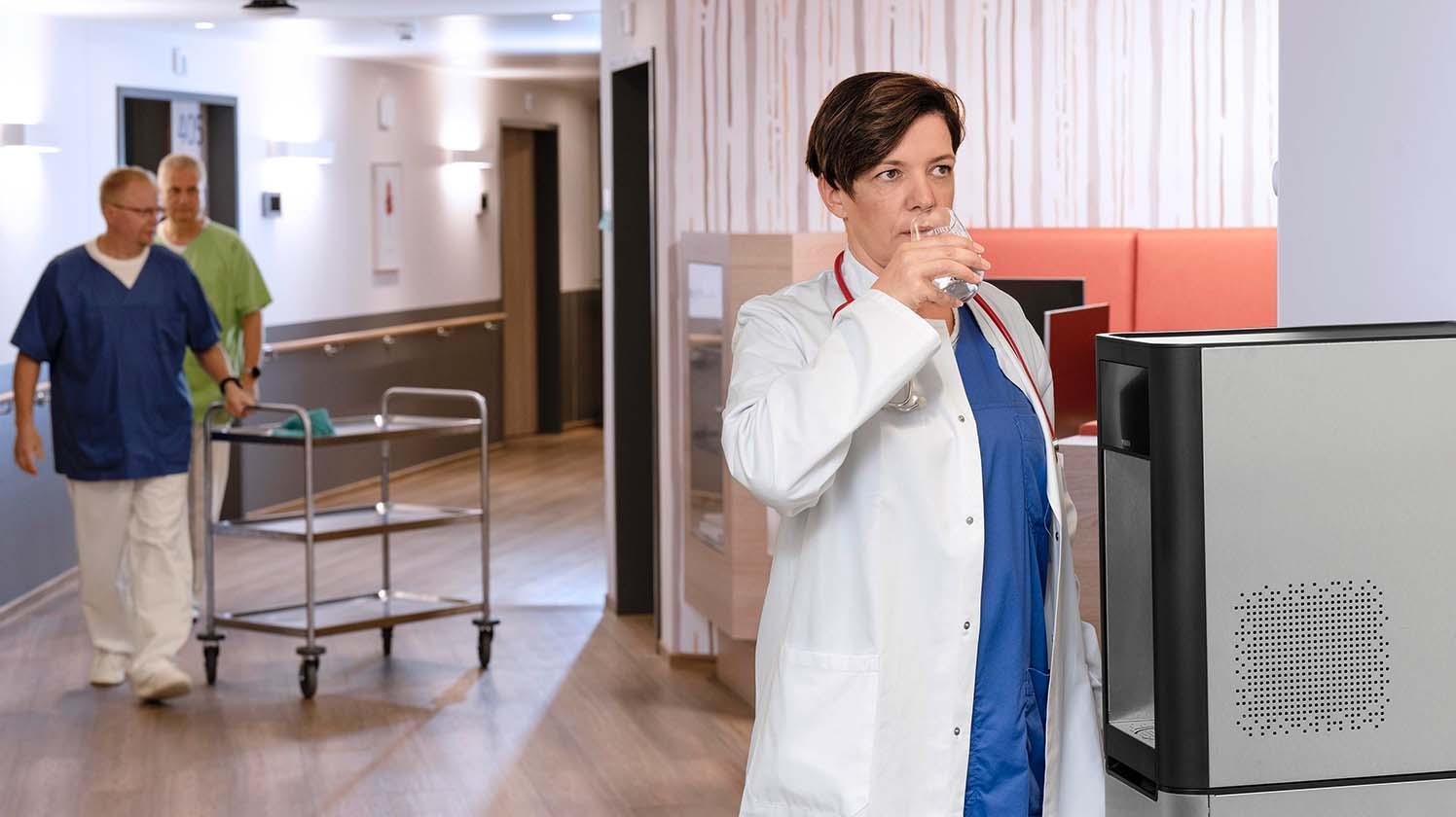 Wasserspender für Krankenhäuser – Wasser trinken