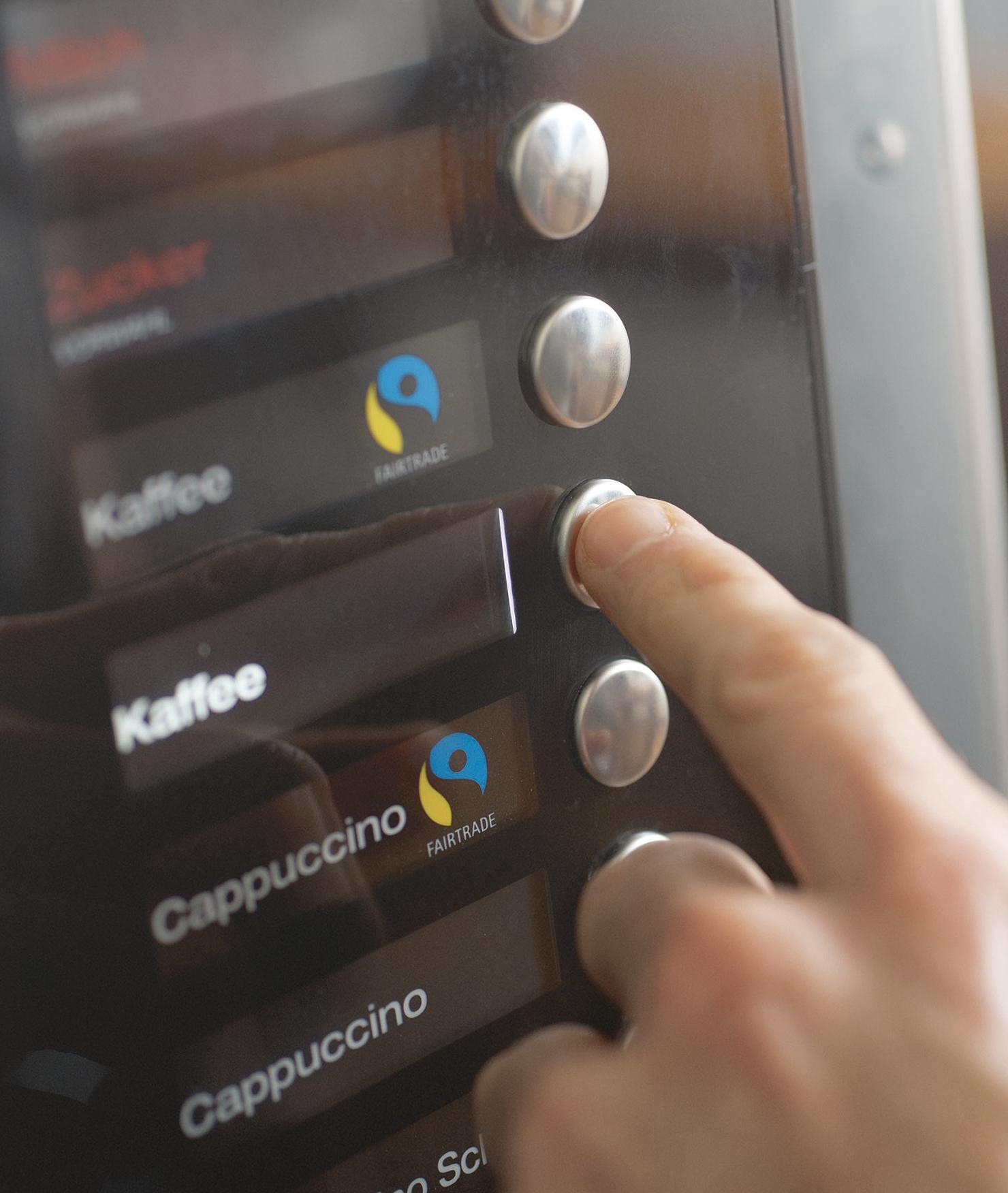 BRITA Wasser Verkaufsautomat Kaffeeauswahl