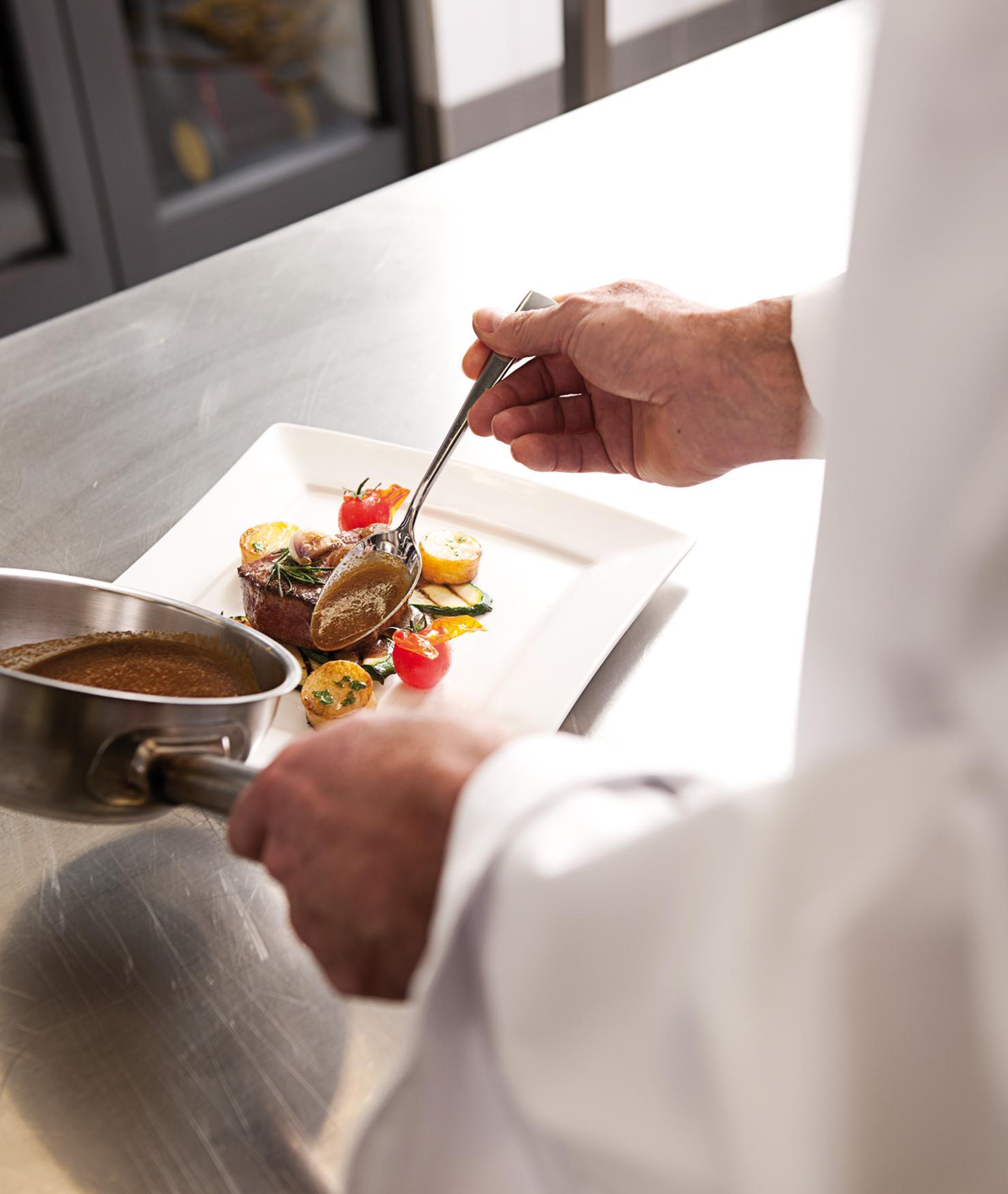 BRITA gehobene Küche dampfgaren Speisen