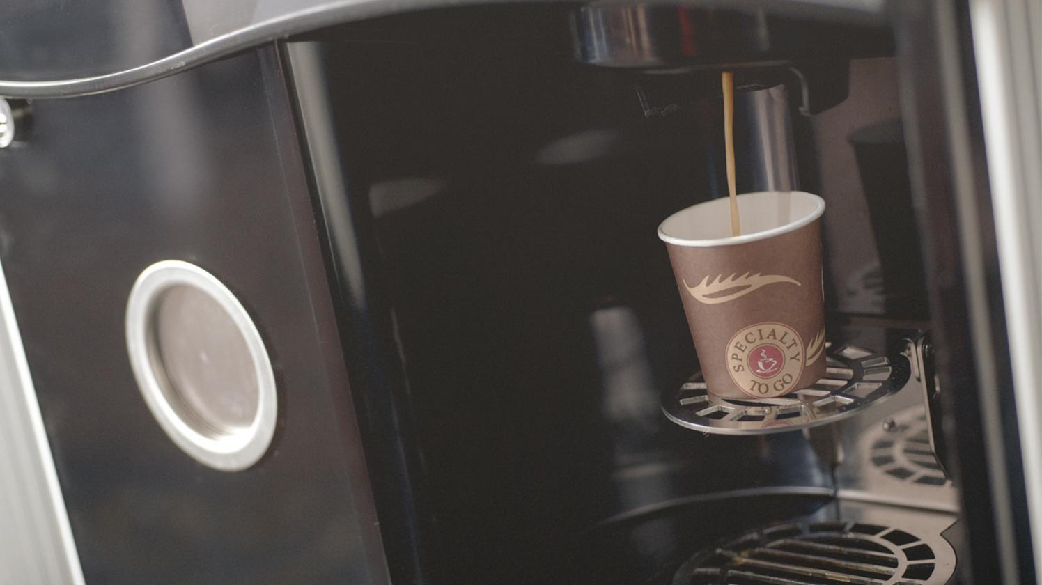 BRITA water vending machine coffee machine