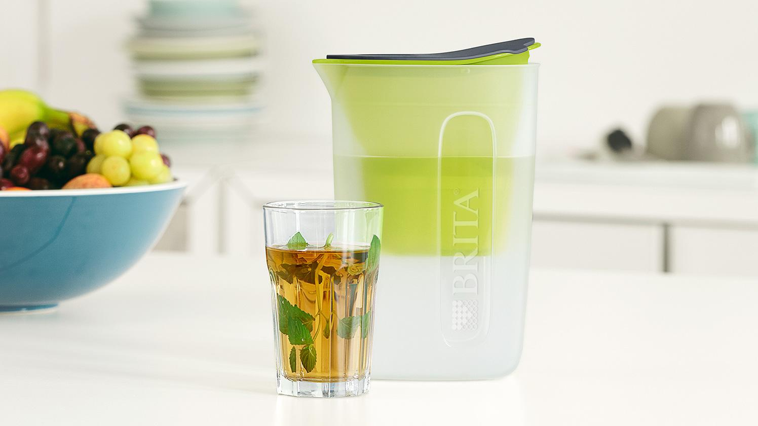 BRITA fill&enjoy Fun lime: Teeglas in Küche