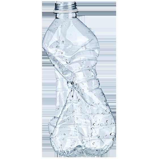 BRITA planète saine bouteille plastique écrasée