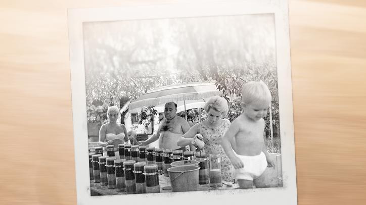 BRITA história família primeiros filtros no jardim