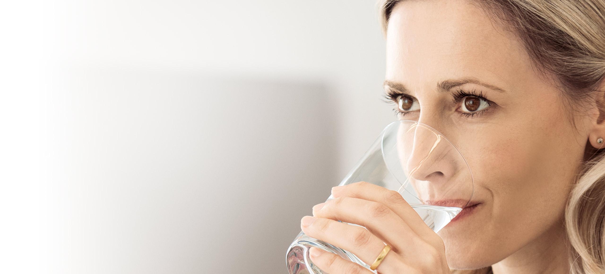 Woman drinking