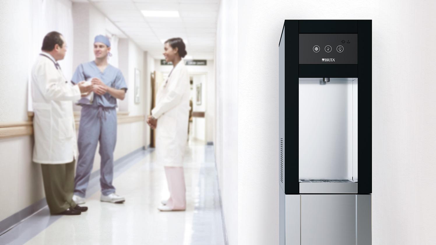 Filtro BRITA CLARITY Protect pasillo del hospital