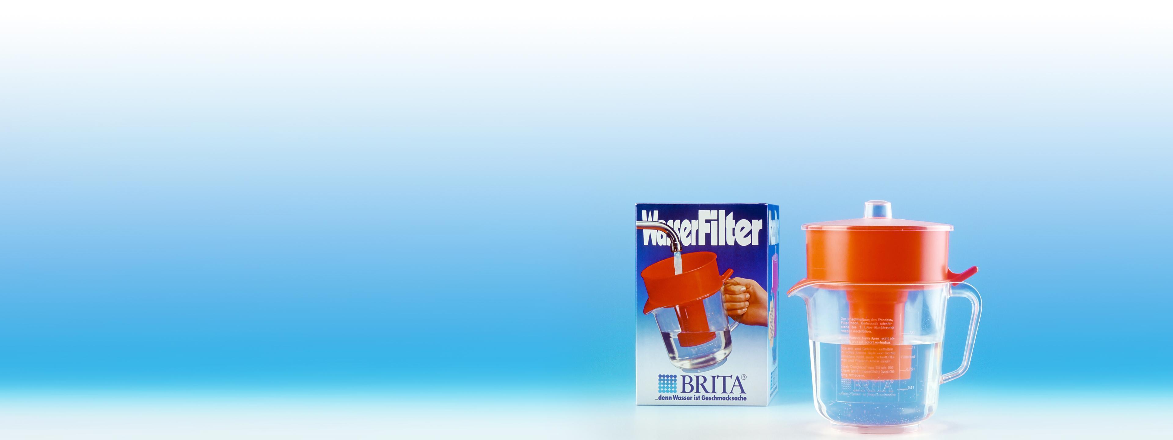 BRITA histoire premier filtre à eau
