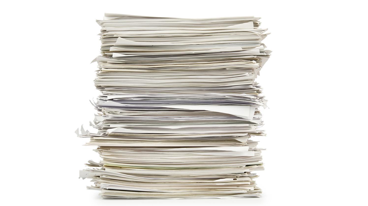 Tas de papier, prévention des déchets BRITA