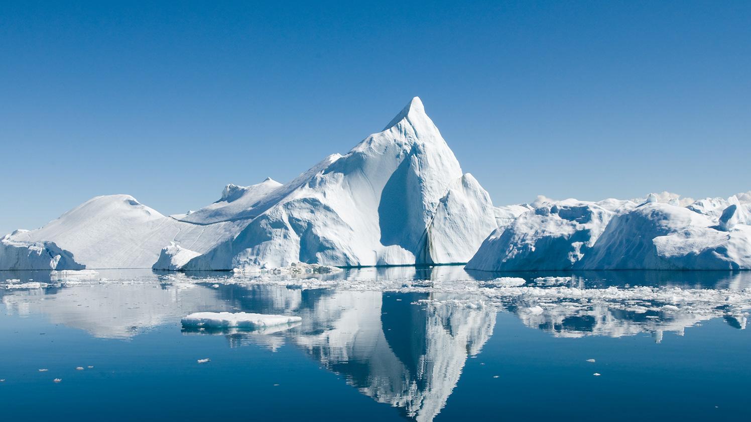 BRITA planeta saudável iceberg flutuante