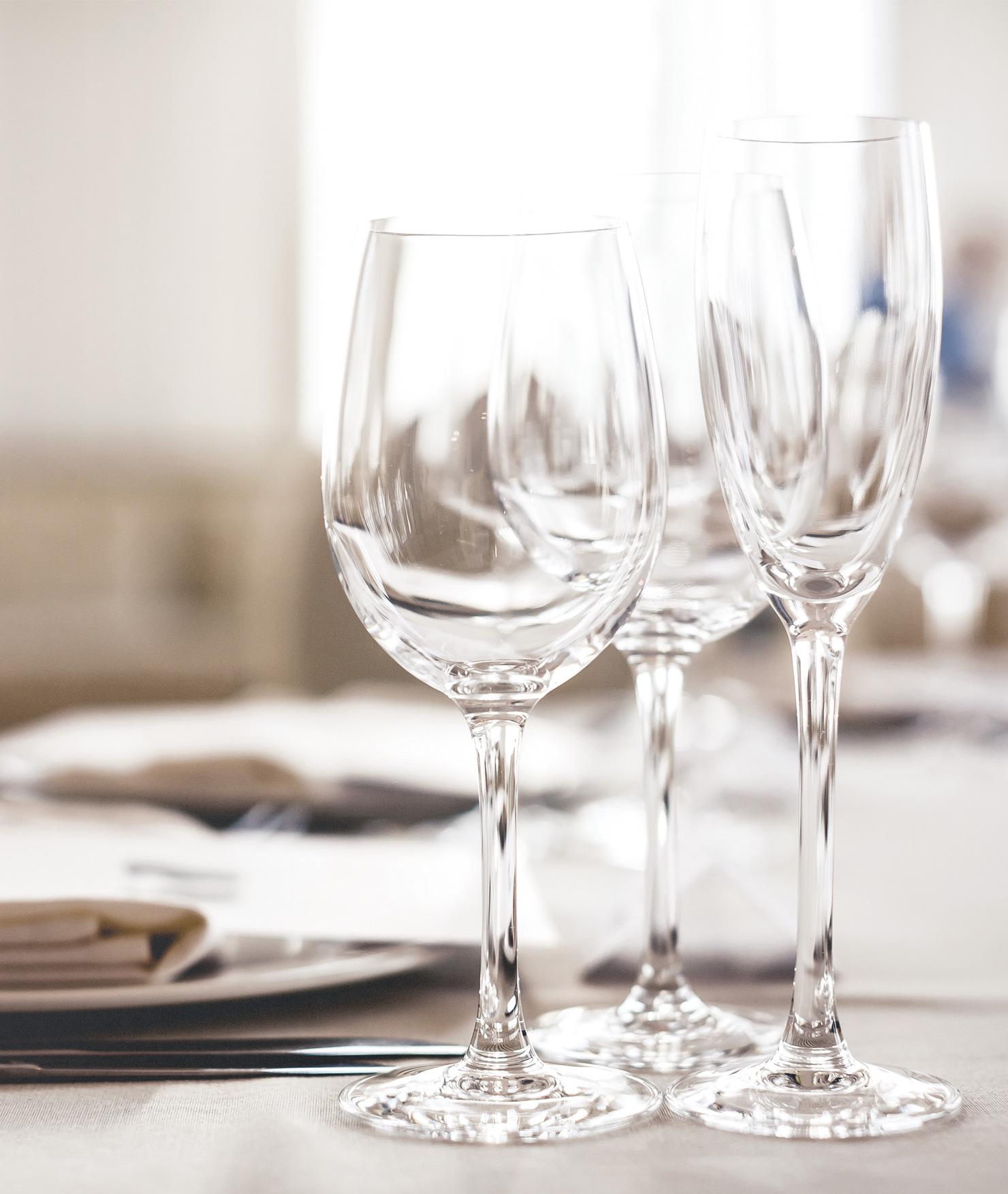 BRITA filter PURITY Clean fine dining glasses