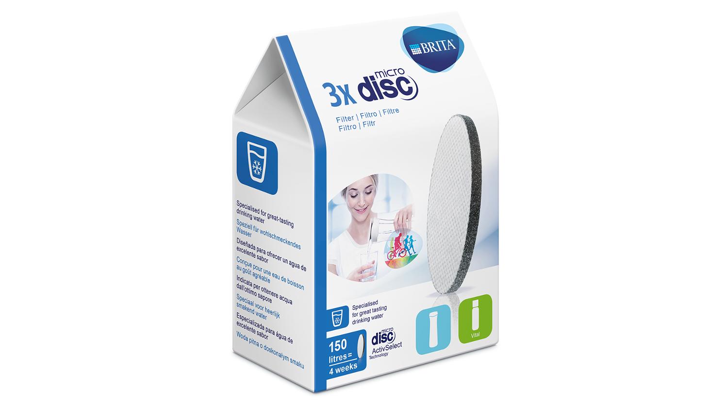 BRITA Filtros e Cartuchos MicroDisc embalagem