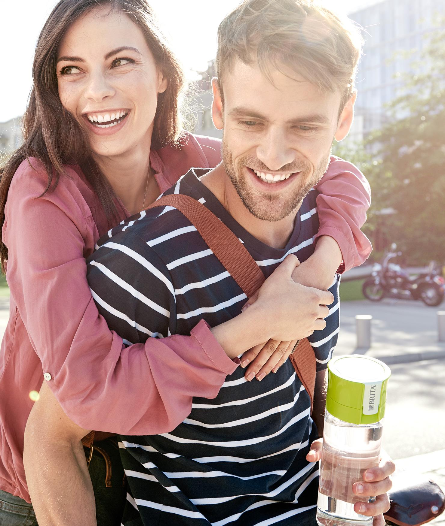 BRITA fill&go Vital lime city couple