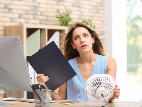 10 Tipps bei Hitze im Büro