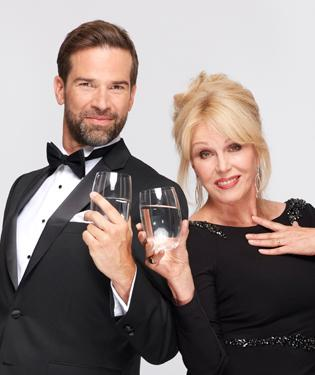 Joanna Lumley and Gethin Jones