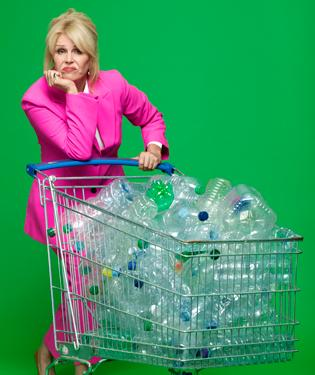 Joanna Lumley_Water bottles trolley 1