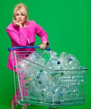 Joanna Lumley_Water bottles trolley 1