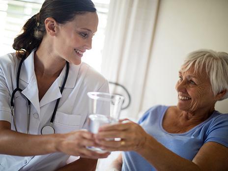 Wasserspender für Krankenhäuser und Pflegeheime
