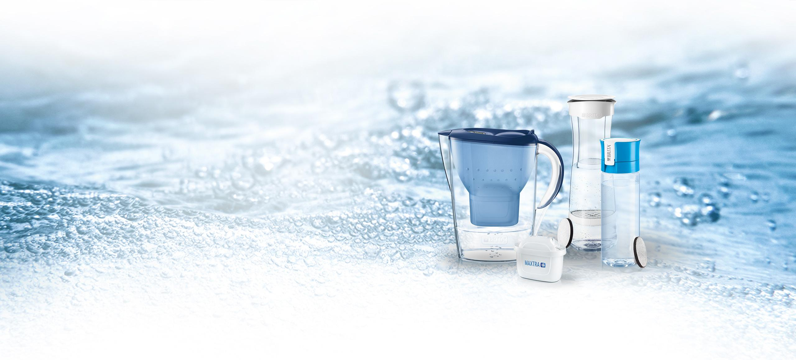 BRITA water filter for home and on the go