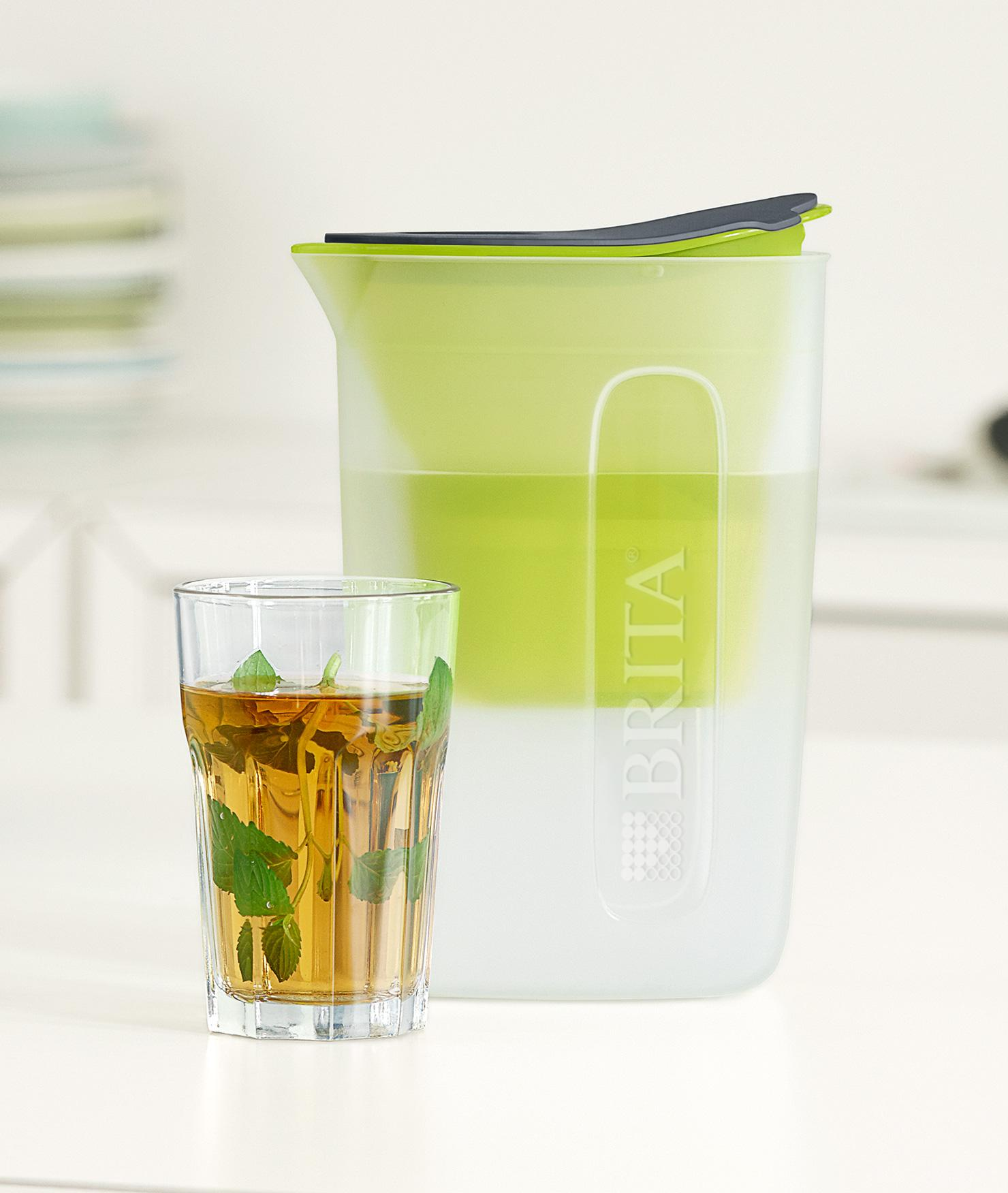 BRITA fill&enjoy Fun lime kitchen glass tea