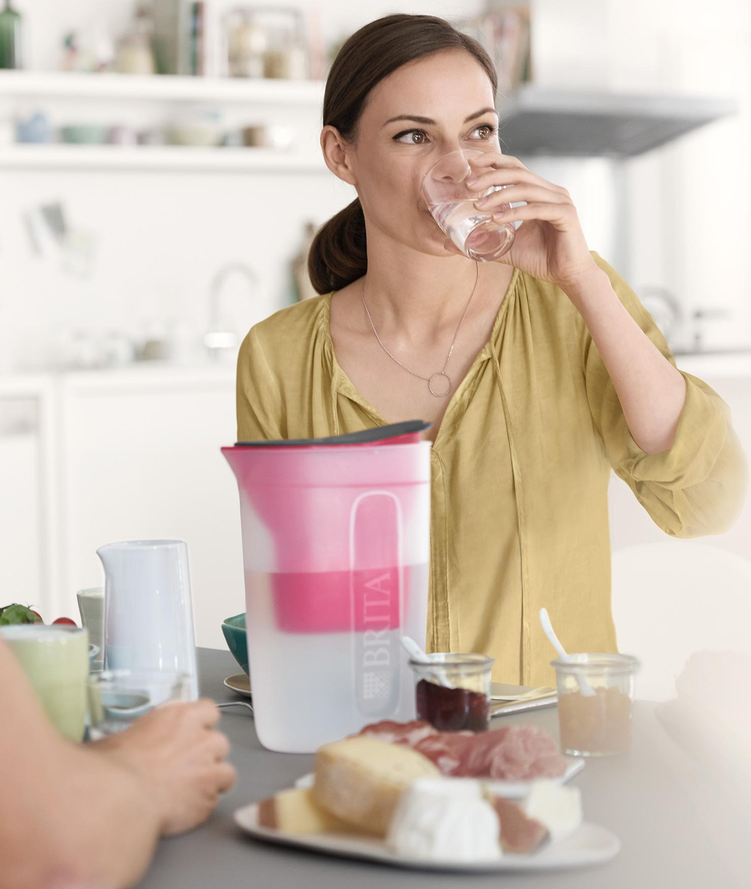 BRITA fill&enjoy Fun pink kitchen woman drink