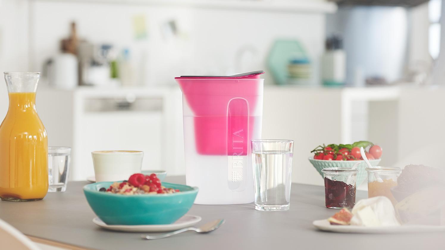 BRITA fill&enjoy Fun pink kitchen breakfast