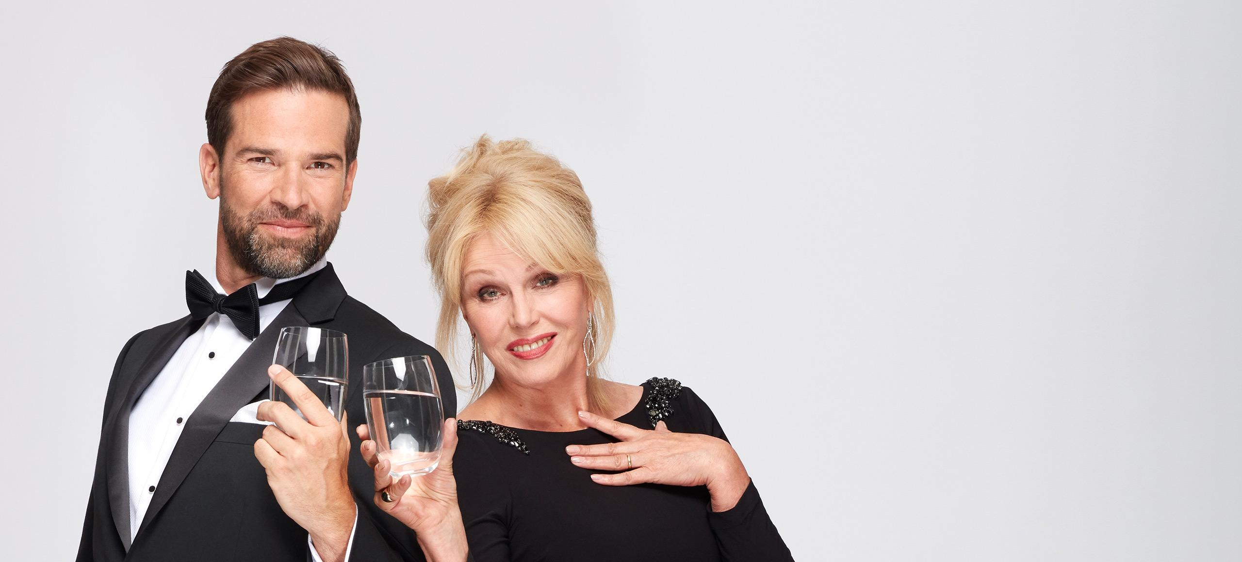 Just tap filtered with Joanna Lumley
