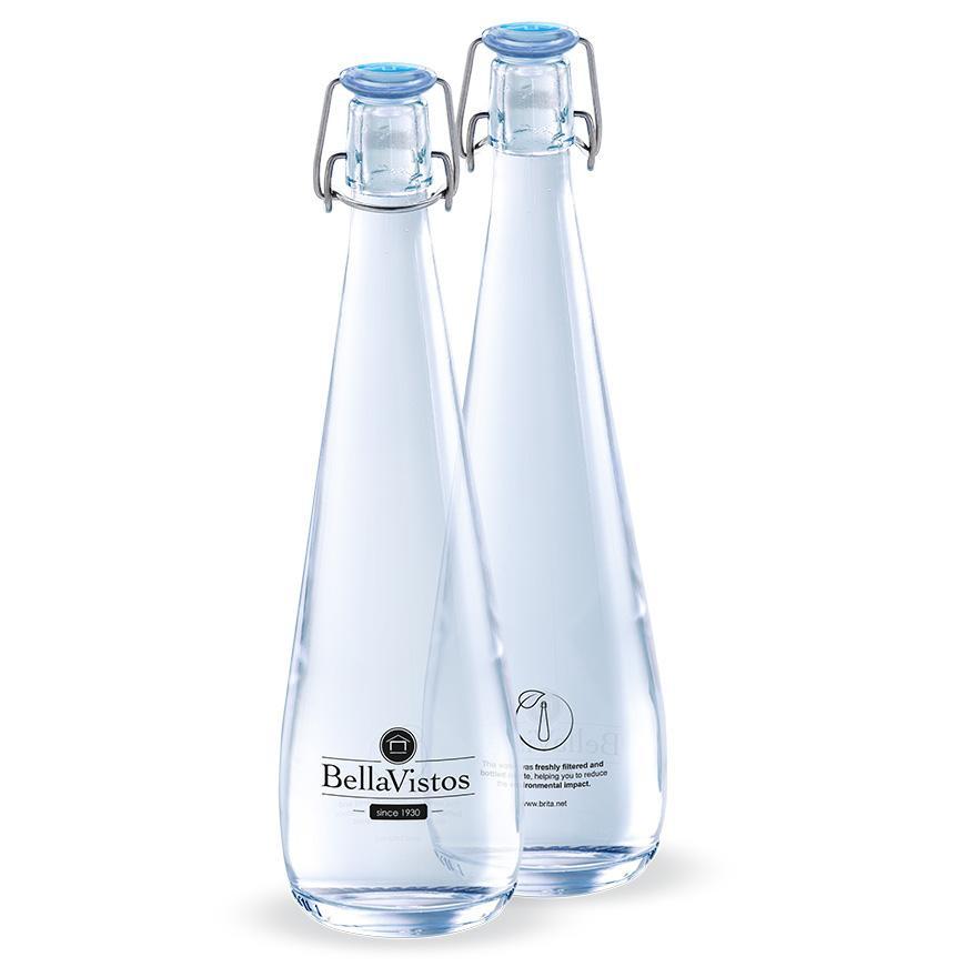 De glazen waterfles BRITA Swing.