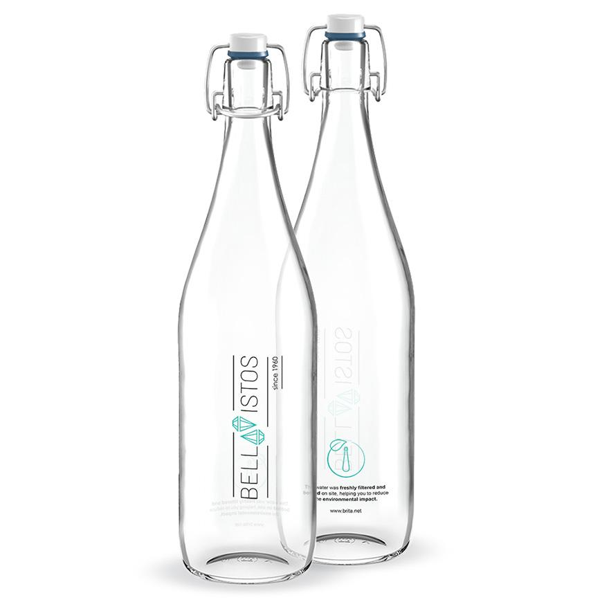The glass water bottle BRITA Classic.