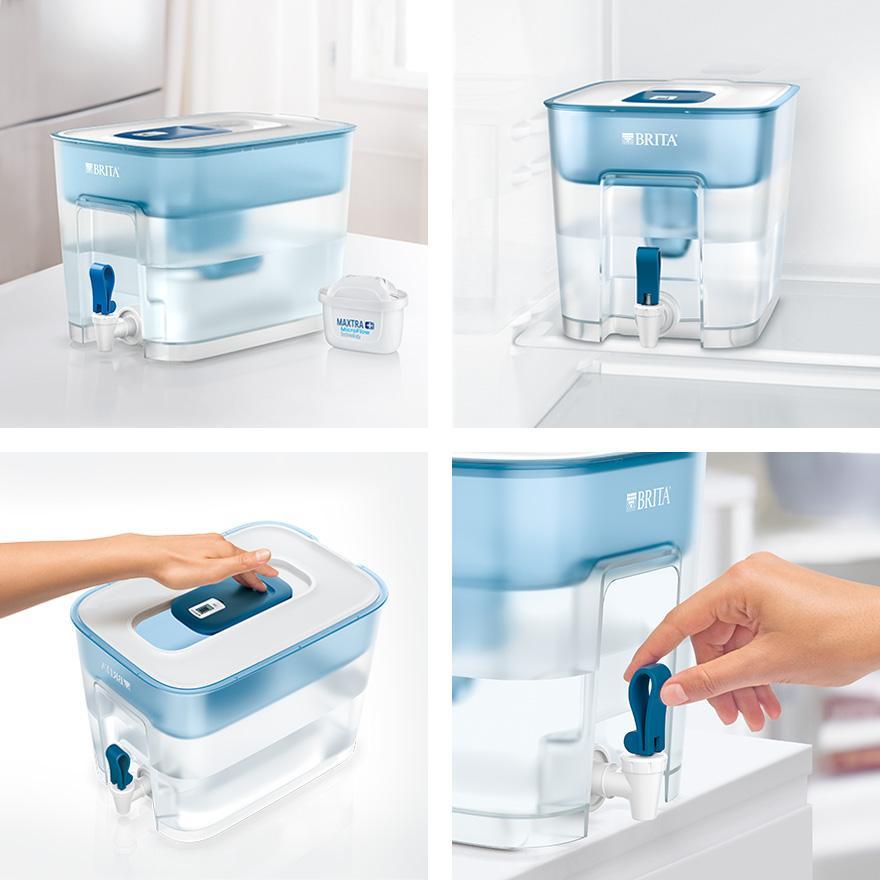 BRITA fill&enjoy Flow 濾水箱使用方法
