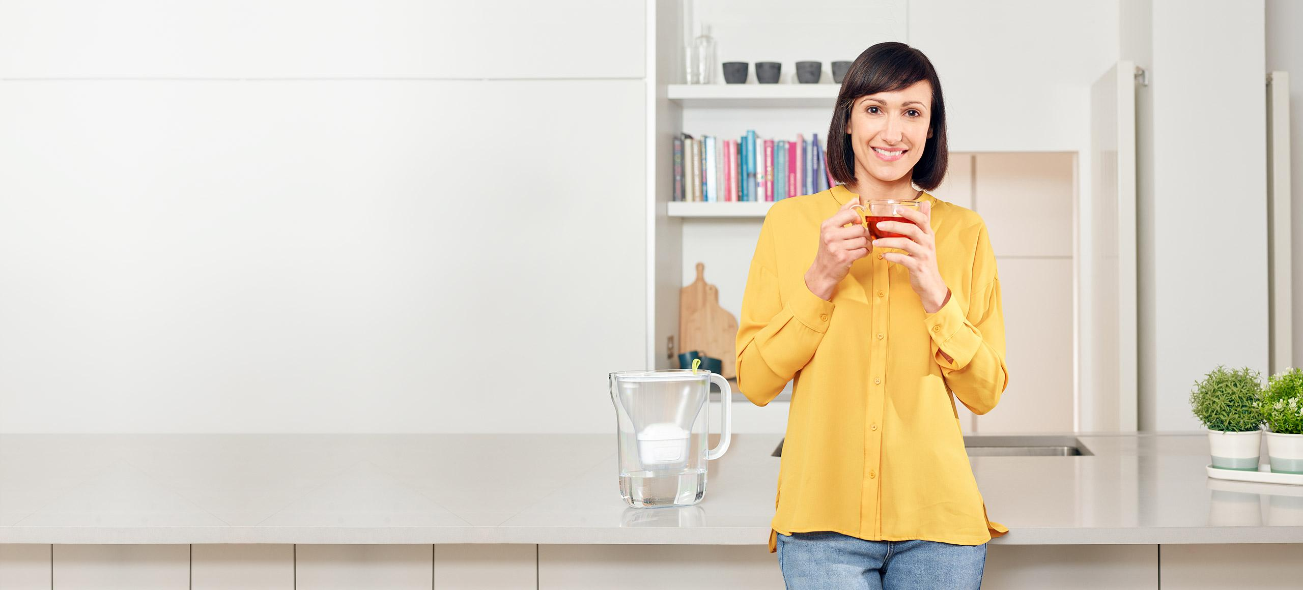 BRITA water filter for better tasting tea