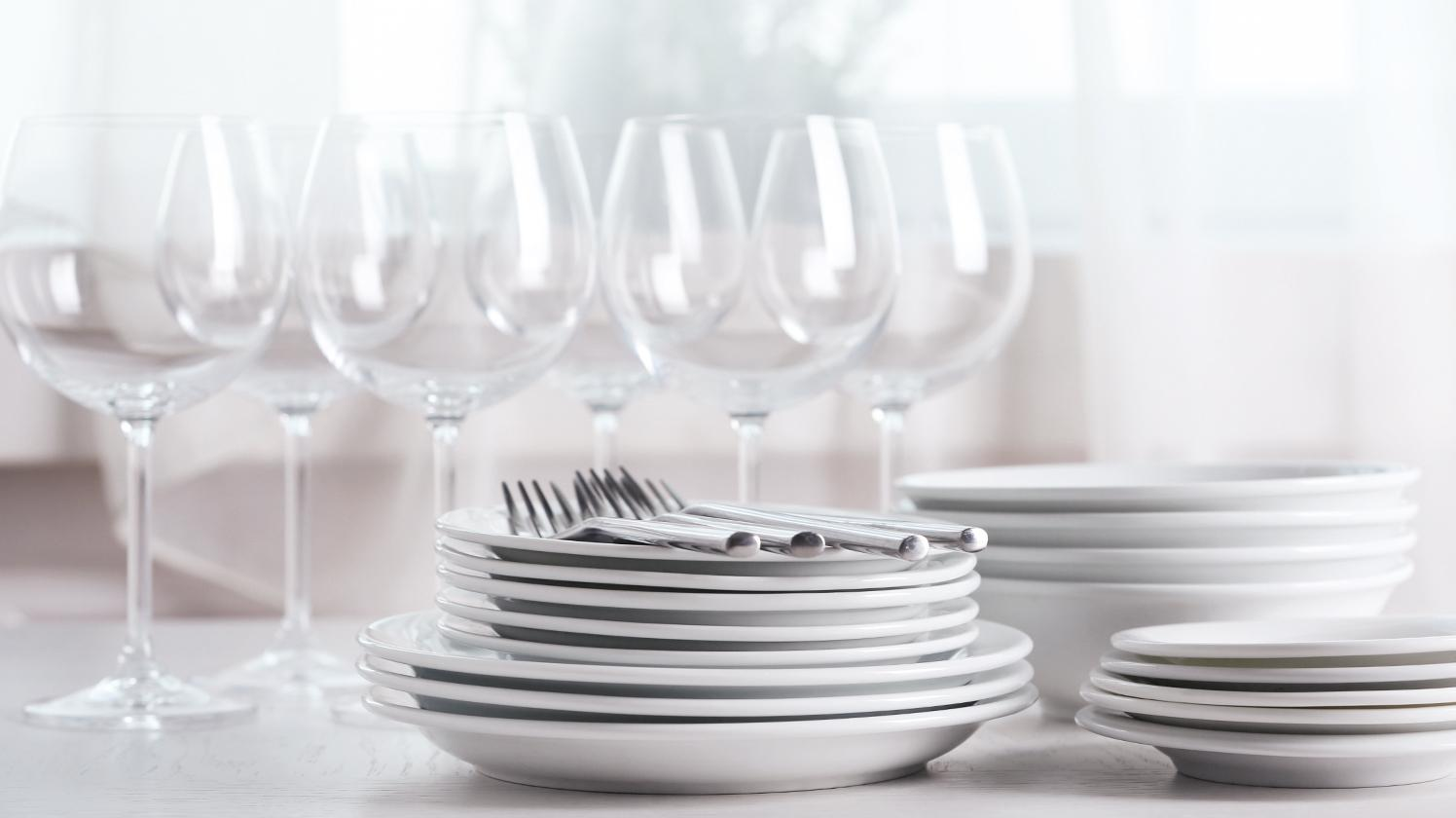 BRITA water catering glasses and dishes