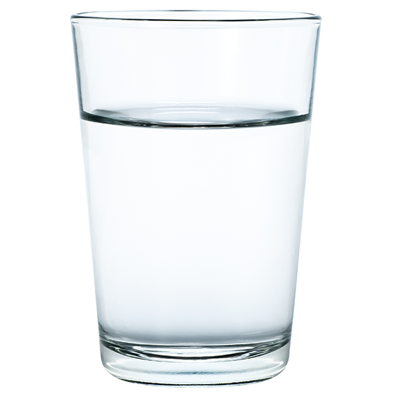 BRITA history glass of water