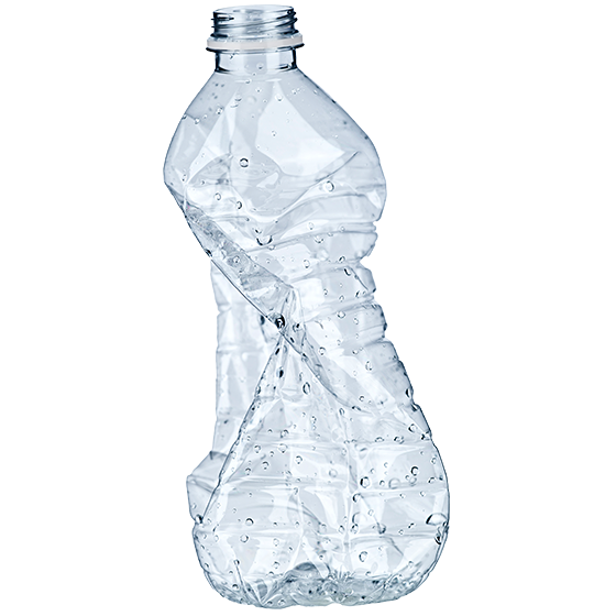 BRITA gesündere Umwelt zerdrückte Plastikflasche