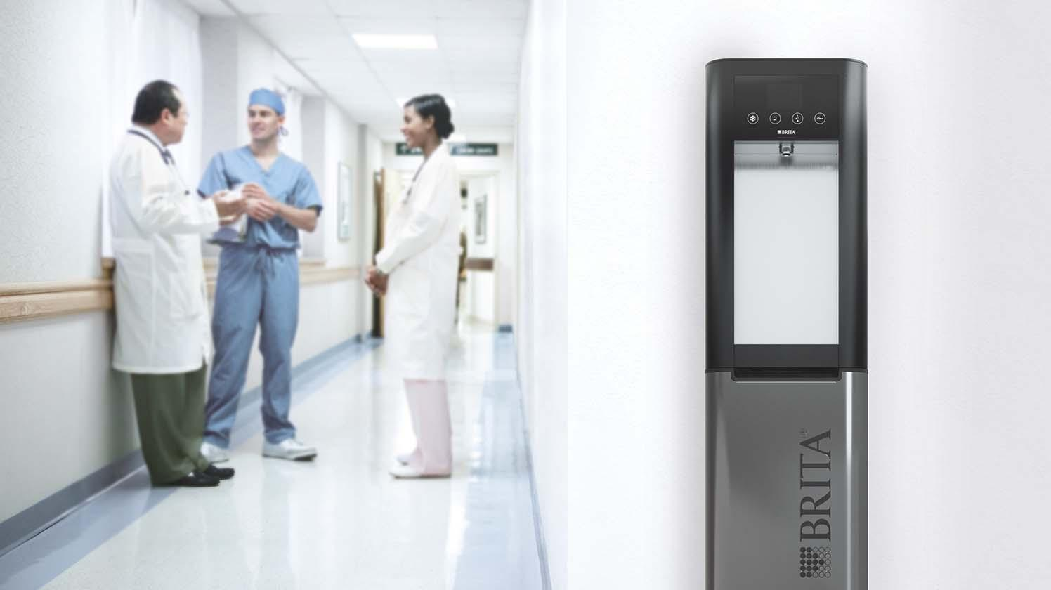 BRITA water dispensers for hospitals – corridor
