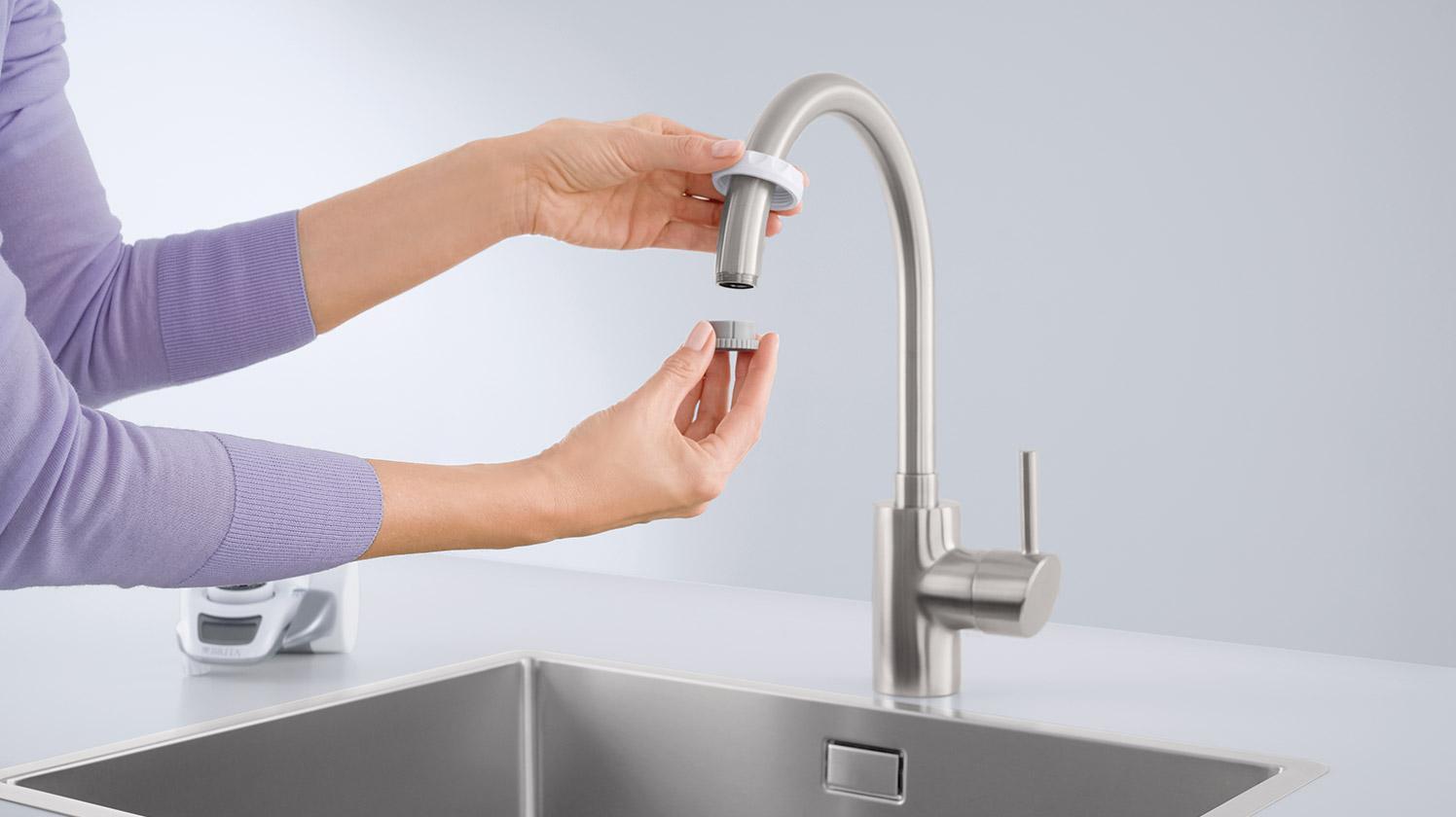 Adattatore BRITA On Tap su rubinetto