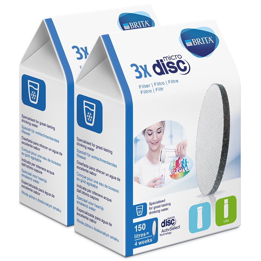 BRITA MicroDisc pachet de 6 bucăți laterală