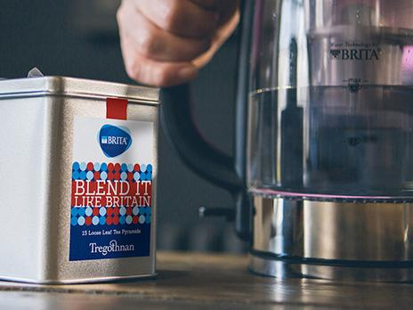 Blend It Like Britain tea by BRITA and Tregothnan