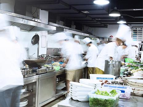 Busy professional kitchen