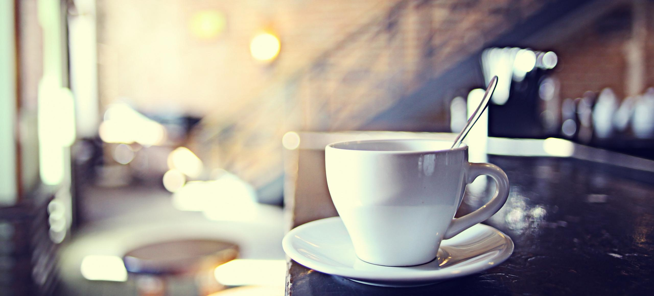 Tea in a cafe