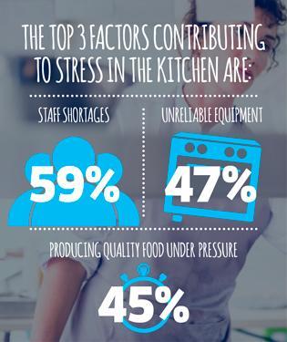 Professional kitchen stress factors