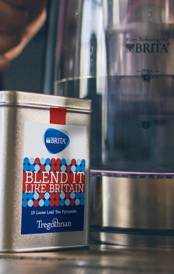 Box of 'Blend it like BRITA' tea