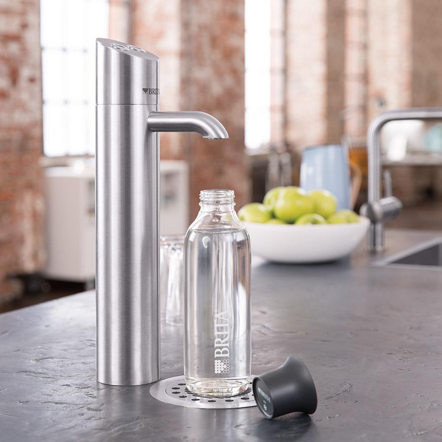 Einbau-Wasserspender mit Leitungsanschluss