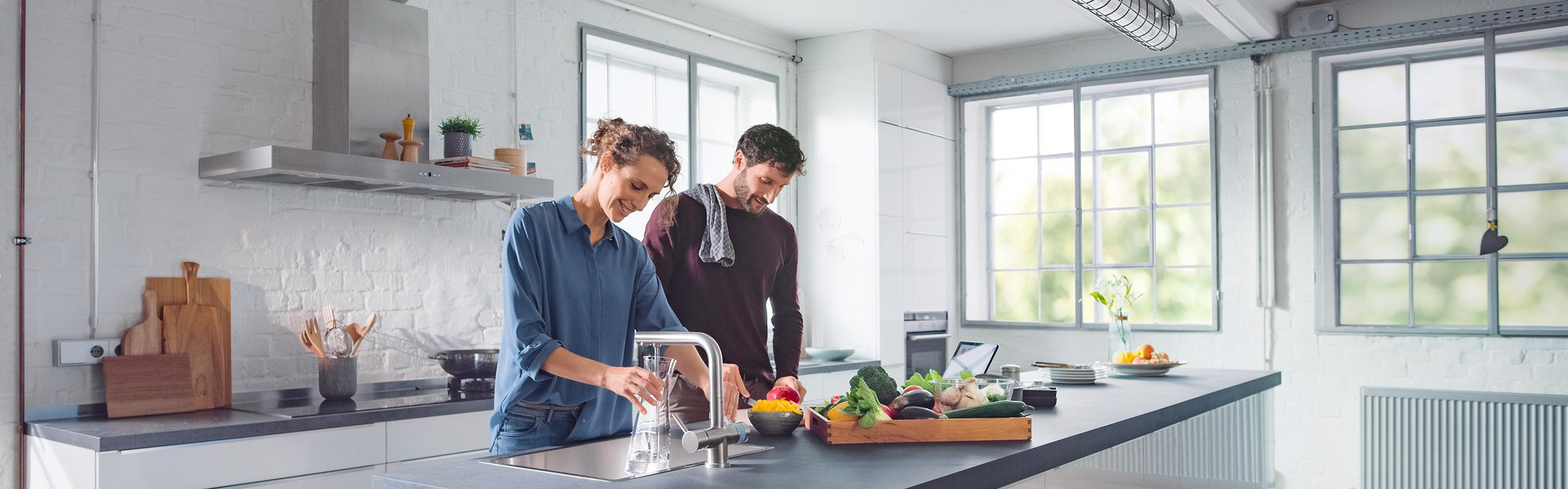 BRITA 3-Wege Küchenarmatur in Küche