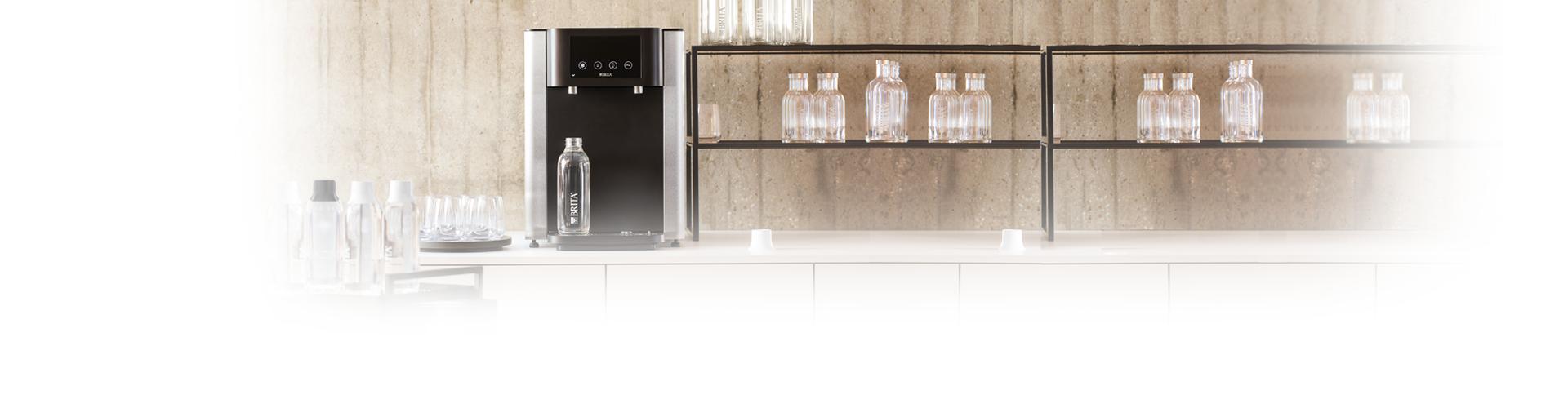 BRITA dispenser on the bar