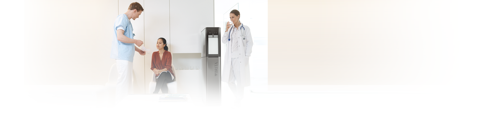 Water dispenser in the hospital