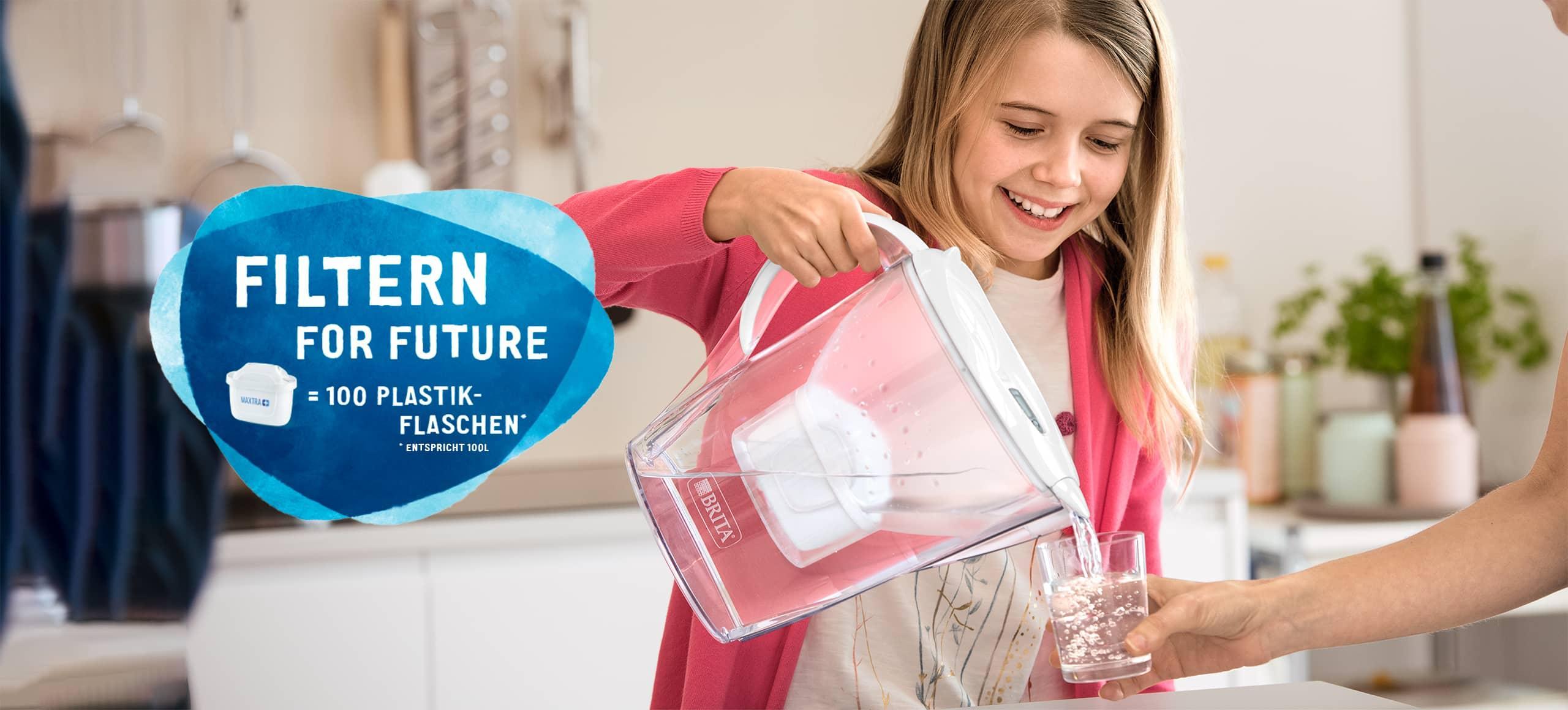 Wasserfilter für weniger Plastikmüll
